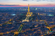 Leinwanddruck Bild - Eiffel Tower in Paris , France