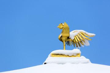金閣寺屋上の鳳凰