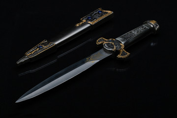 Medieval Ceremonial Dagger with jewels