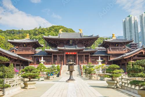 Fotobehang Hong-Kong Chi Lin Nunnery in Diamond Hill, Kowloon, Hong Kong.