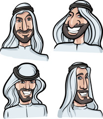 Arab men smiling faces