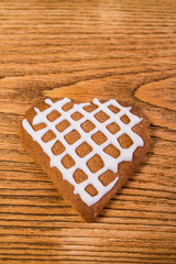 Gingerbread on a wooden table
