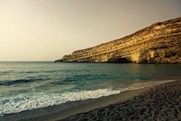 Греция. Крит, Матала. Пляж.