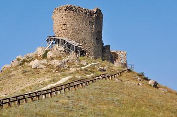 Old genoese Balaklava Castle