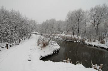 River under snow