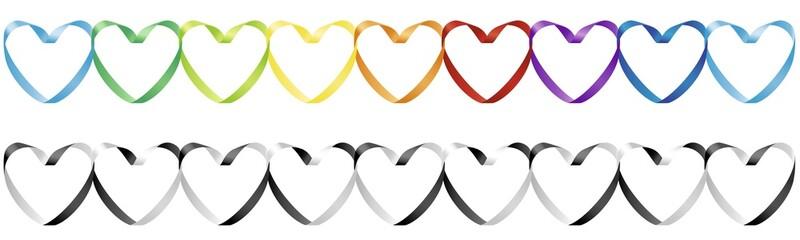 Heart shape from ribbon