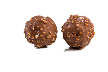 Almond chocolate ball isolated