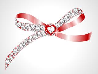 Diamond ribbon