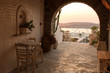 Hall of traditional Greek house on Paros island - 75526649