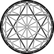 stencil of magic hexagram