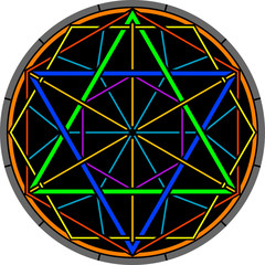 color magic hexagram