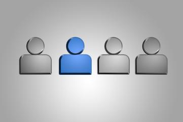 Group of People/Users - Alu Series