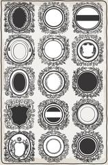Set of Vintage Graphic Garlands for Logos