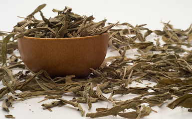 Sage leaves in the bowl