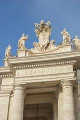 Porta di Papa Alessandro VII piazza San Pietro a Roma