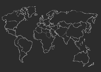 World map. Sketch. Vector illustration.