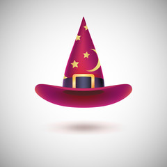 Red witch hat for Halloween.