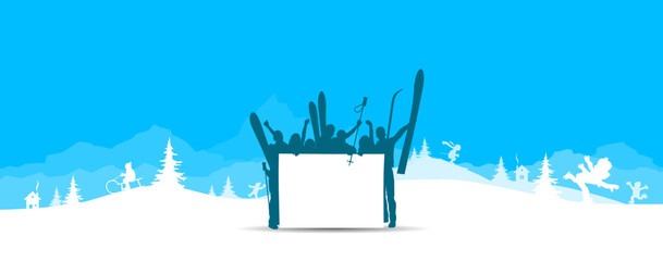 Skifahrer Schild
