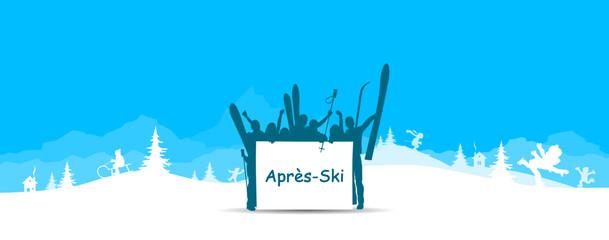 Winterlandschaft Apres Ski