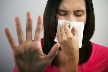 Flu cold or allergy symptom