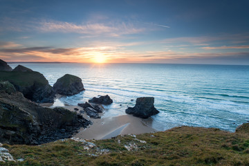 Sunset at Bedruthan Steps