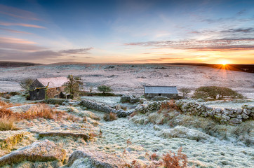 Winter Sunrise on Bodmin Moor