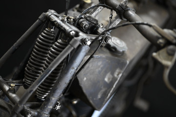 Vintage motorcycle front suspension