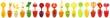 Leinwandbild Motiv collage of fruit and vegetable juice
