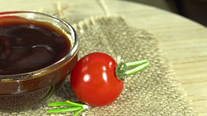 Portion of BBQ Sauce (not seamless loopable) as 4K UHD footage