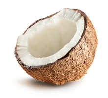 "Постер, картина, фотообои ""half of coconut isolated on white background"""