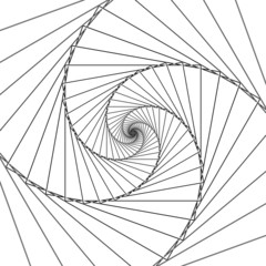 Abstract spiral lines black and white vector background