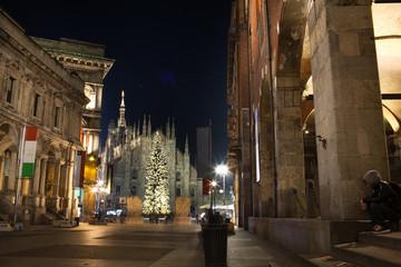 Milano con le luci della notte