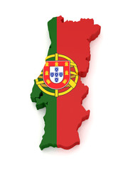 3D Portugal Map