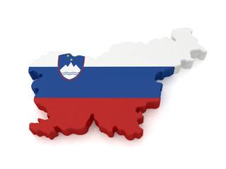 3d Slovenia Map