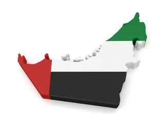 3d United Arab Emirates Map