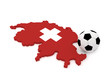 Switzerland Map with soccer ball