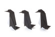 canvas print picture - Origami Penguins
