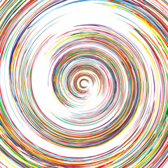Abstract spiral lines color vector background.