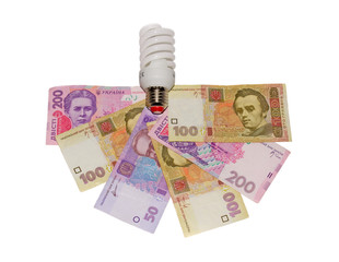 Hryvnia and the lamp