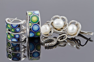 jewelry set silver
