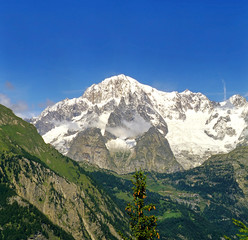 Mont Blanc, Monte Bianco, from Italy side.