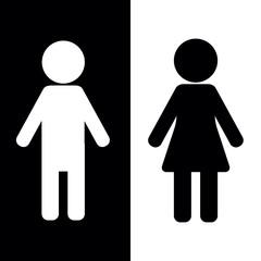 vector icon public, female, male, female and male, gender