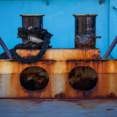 Old Bollard In Odessa Port