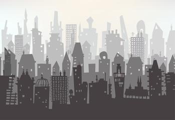 Capital, Big city illustration