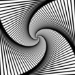 Abstract spiral lines black and white vector background - 75533865