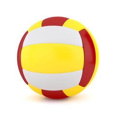 3D Volleyball isolated on white background