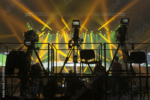 tv camera in a concert hall - 75534846