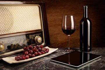 Weingenuss bei alter Musik und mit moderner Technologie