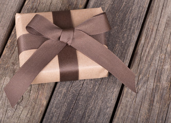Brown Package With a Bow