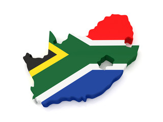 3D South Africa map